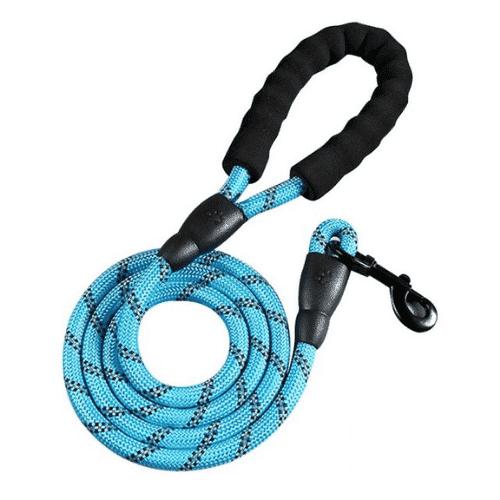 laisse bleu avec poignée ergonomique
