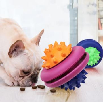 Jouet disque distributeur de nourriture pour chien