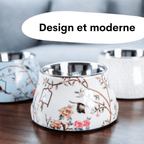 Gamelles chien surélevées / design et moderne