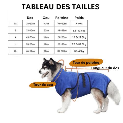 peignoir pour petit chien / peignoir pour grand chien