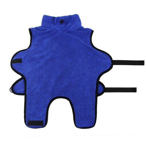 peignoir pour chien bleu